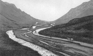 An early photo of Barnesmore Gap