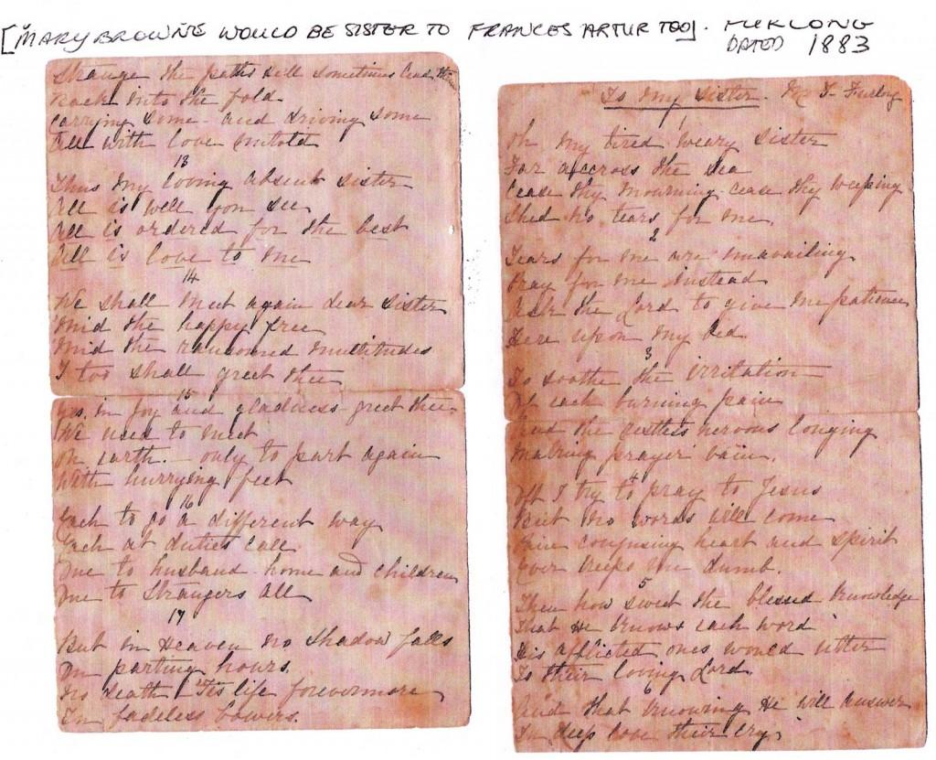 Frances Browne Arthur letter 4