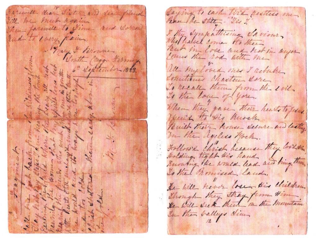 Frances Browne Arthur letter 5